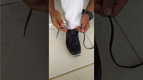 tutorial mengikat tali sepatu cantik tutorial pemasangan tali sepatu singkat youtube