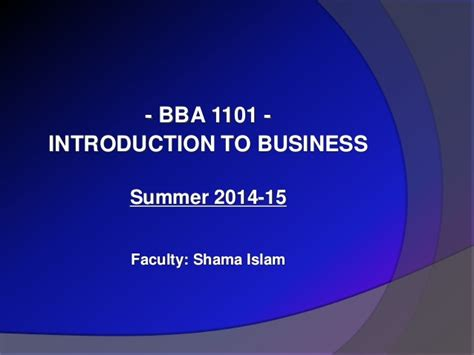 Introduction To Business Edisi 4 summer 15 introduction to business lecture 4 part 1