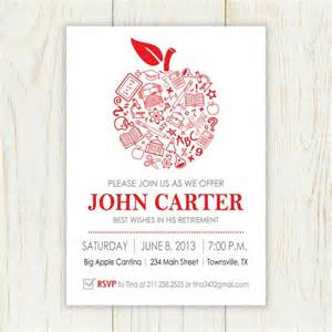 apple retirement invitation printable printable invitation invitation s