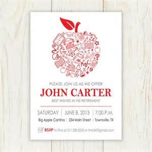 apple retirement invitation printable printable invitation invitation s