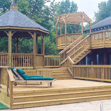 how to level backyard for pool 1000 images about multilevel deck and porch ideas on