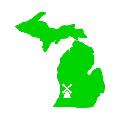 michigan vinyl decal michigan map with windmill vinyl car decal stickit vinyls