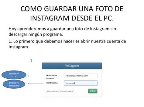 tutorial instagram para pc tutorial para aprender a guardar una foto de instagram