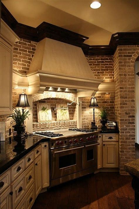 brick backsplash in kitchen painting faux brick backsplash in kitchen