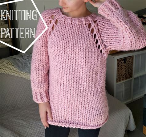 knit sweater top down free pattern chunky knit sweater pattern top down raglan sweater