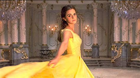 emma s belle s yellow gown from beauty and the beast a first look at emma watson as belle in iconic yellow gown