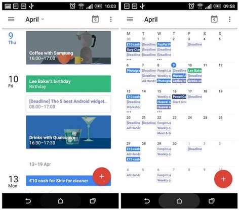Calendar Update Android Calendar Month View Returns With Update