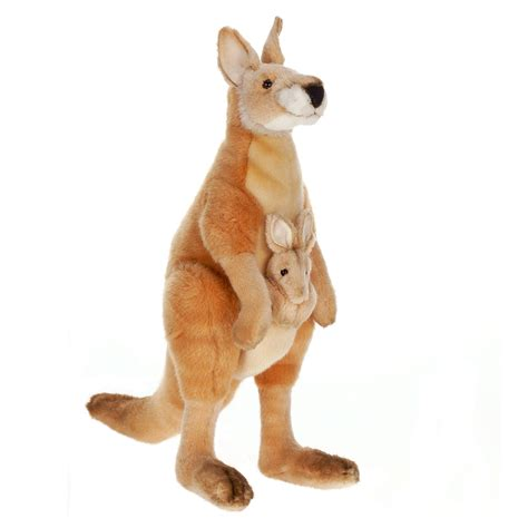 hansa creation   mama  joey kangaroo stuffed animal