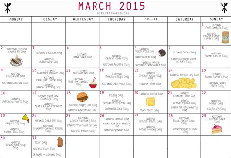 march 2015 best days national food holidays march 2015 girl eats world