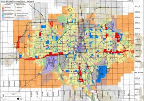 Wichita Zip Code Map by Wichita Functional Land Use Guide Map Wichita Ks Us