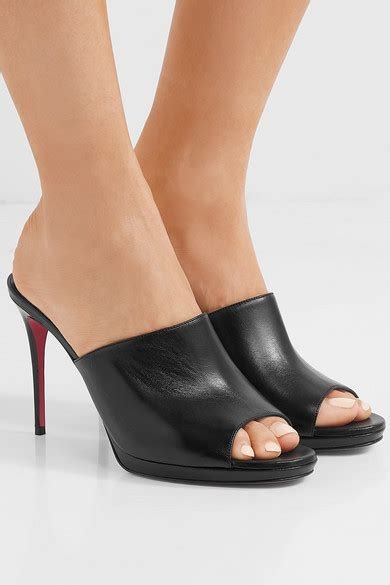 100 At The Net A Porter Sale by Christian Louboutin Pigamule 100 Leather Mules Net A