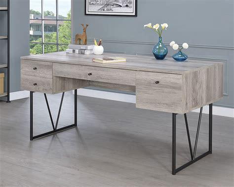 coaster furniture writing desk coaster analiese writing desk grey driftwood 801999 at