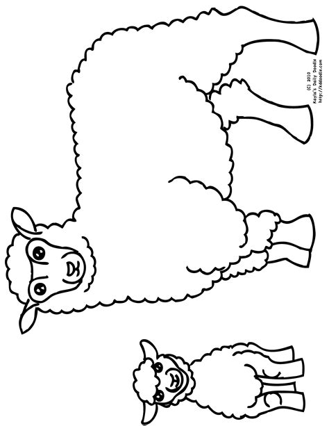 Free Baby Lamb Coloring Pages Colouring Pages Sheep