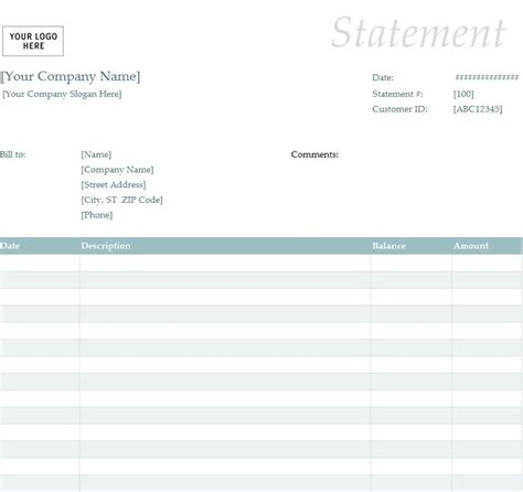 statement template invoice statement template hardhost info