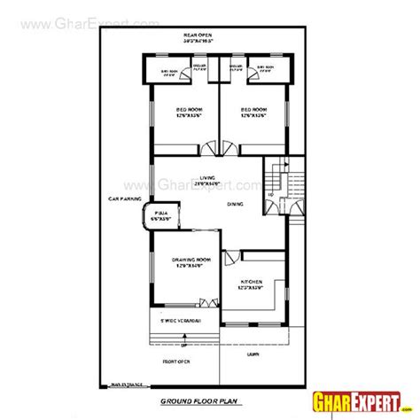 80 yard home design house plan for 40 feet by 70 feet plot plot size 311
