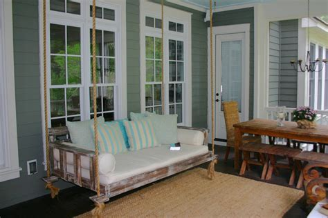 comfortable porch swing inspired wooden porch swings in porch charleston with