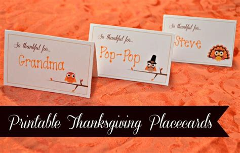we are thankful for place card template printable thanksgiving placecards