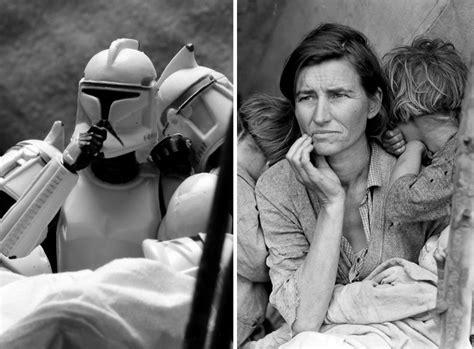 Bekannte Bilder by Photographs Recreated With Wars Figurines