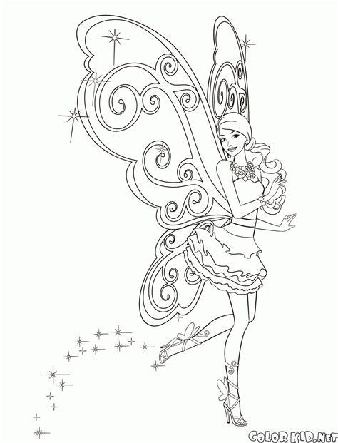 coloring magic fairy barbie