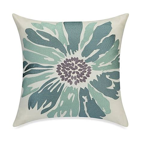 Whisper Gray Large Blanket buy anthology whisper embroidered floral throw pillow in spa from bed bath beyond