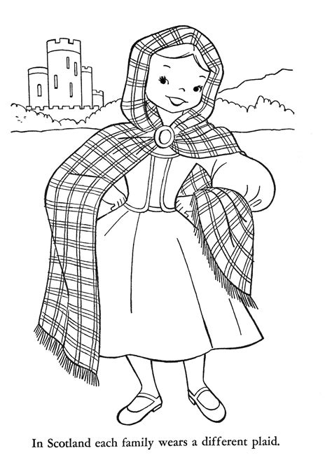 Children Of Other Lands 1954 Belgium Spain Portugal Scottish Coloring Pages