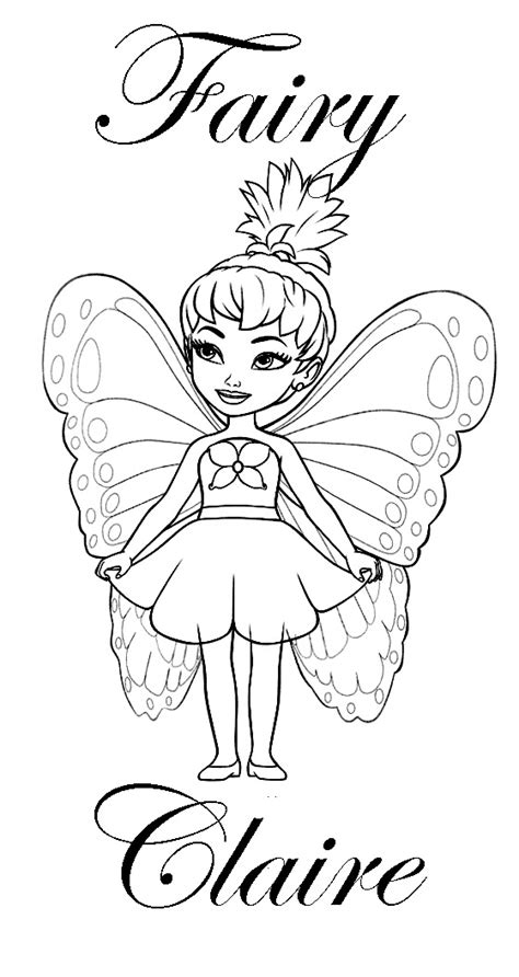 coloring pages of the name claire princess coloring pages