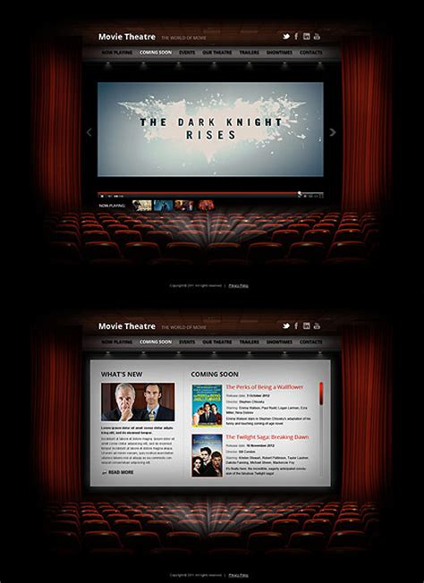 theater template theatre html5 template