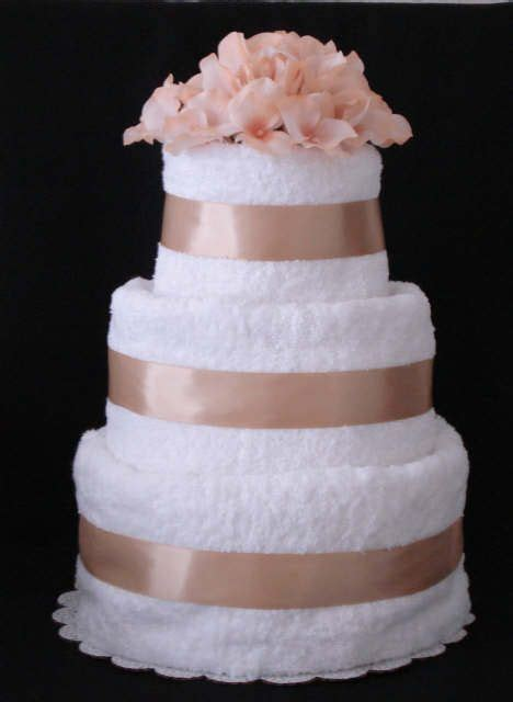 17 best ideas about wedding towel cakes on