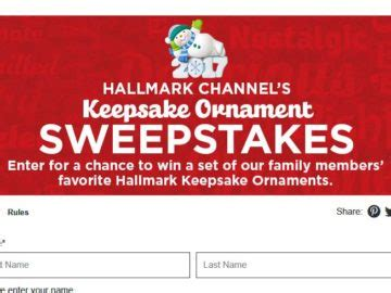 Hallmark Sweepstakes - hallmark channel s keepsake ornament giveaway sweepstakes