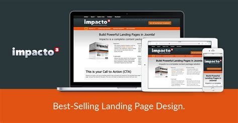 Impacto Is A Best Selling Responsive Quot Landing Page Quot Joomla Template Joomlashack Landing Page Sle Templates