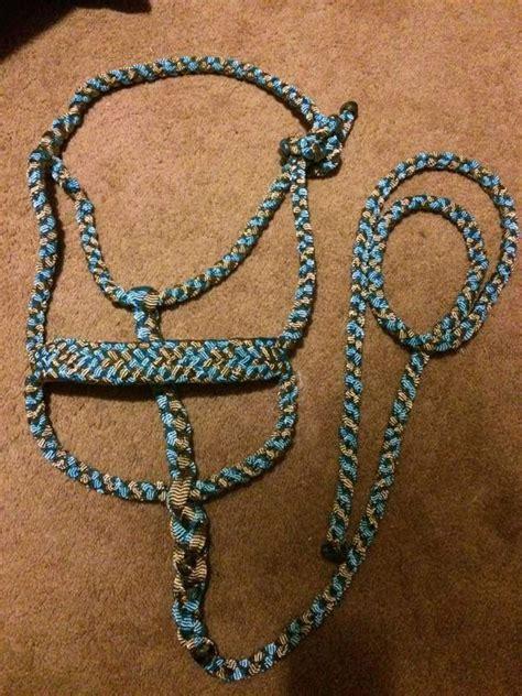 diamond bar  braided mule tape halters  tack handmade halters  tack