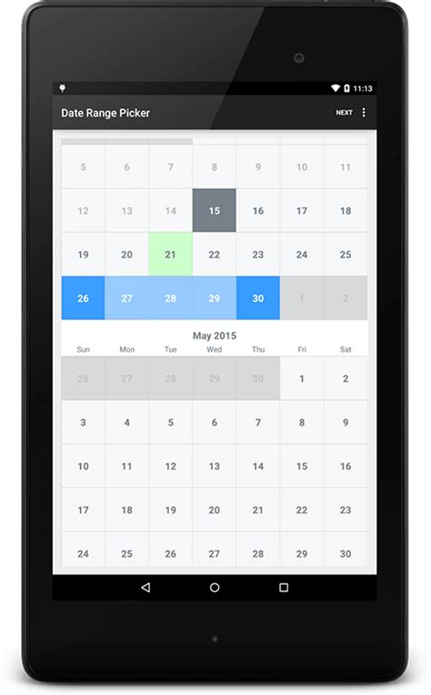 android date picker android date range picker truiton