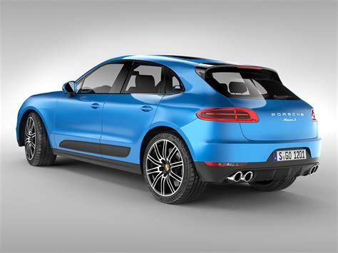 Porsch Models by Porsche Macan S 2015 3d Model Max Obj 3ds Fbx