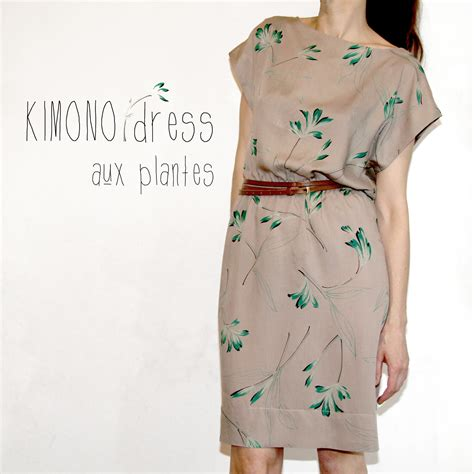 pattern for a kimono kimono dress with plants sewing projects burdastyle com
