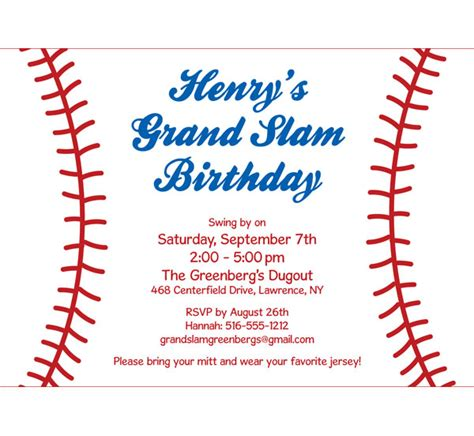Baseball Party Invitations Theruntime Com Baseball Invitation Template