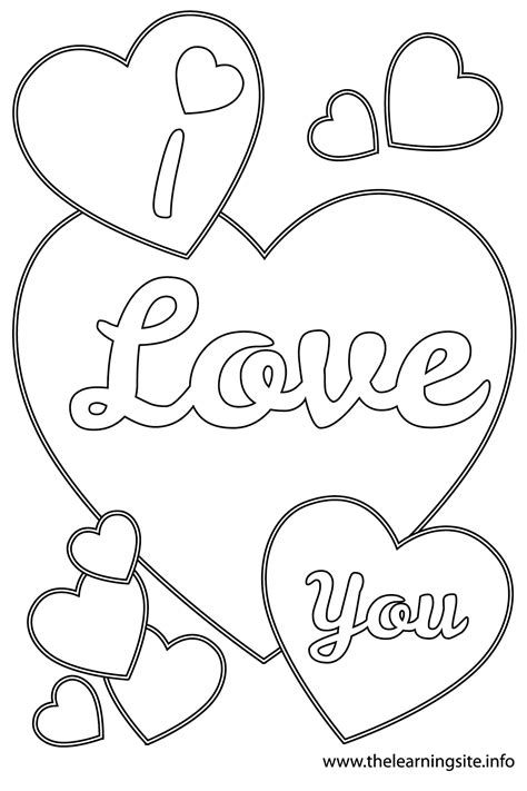 love you coloring pages print free love heart drawing coloring pages