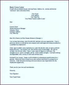 cover letters exles free basic cover letter exle pdf template free