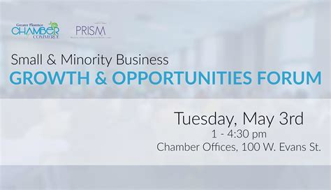 Opportunities For And Minority Run Businesses by Greater Florence Chamber Of Commerce Small Minority
