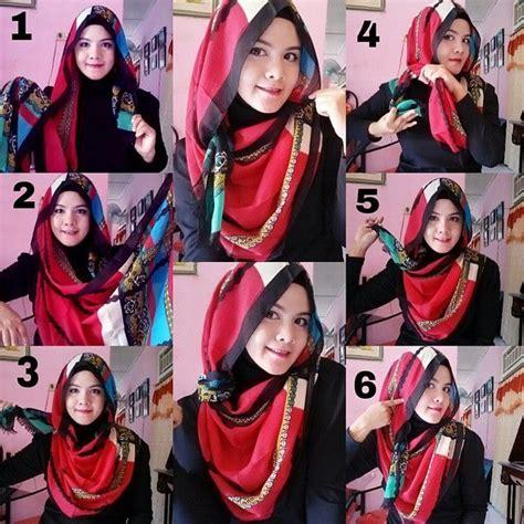 tutorial gambar memakai hijab tutorial cara memakai hijab modern pashmina praktis