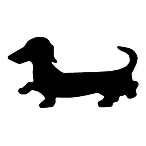 dachshund template dachshund silhouette sihouette