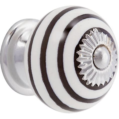Black And White Knobs by Swirl Ceramic Knob Black And White