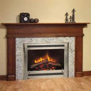 Fireplace surrounds with cream marble panel and cream painted wall