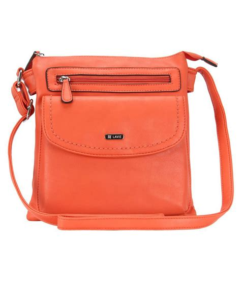 Sling Bag M U lavie orange p u sling bag buy lavie orange p u sling