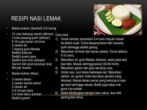 makanan melayu tradisional