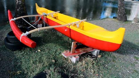Handmade Canoe - hawaiian canoe cool custom outrigger paddling canoe