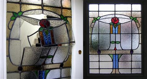 Leaded Glass Door Repair Repair Restoration 2 Stained Glass Glasgow Scotland