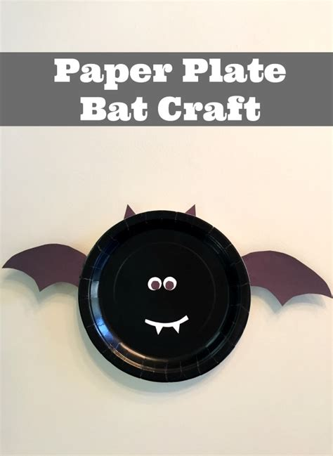 Paper Plate Bat Craft - paper plate bat craft for children family focus