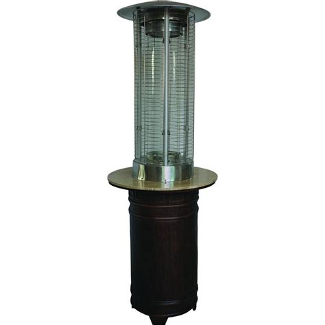 Patio Heaters Az Patio Heaters 11 000 Btu Portable Hammered Bronze Stainless Steel Gas Patio Heater Hlds032 Bb