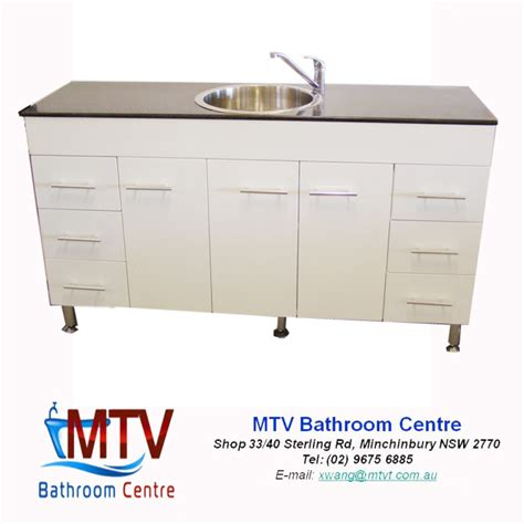 Kitchen Sinks Sydney Space Saver Kitchenette 1500 High Gloss Kitchen Cabinet With Single Bowl Sink 1500mm Sydney