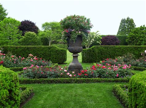 rose themed landscape english style garden in the htons traditional home
